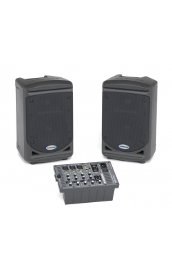 "XP150 - Portable PA - 6"" 2-way Monitors with removable 5-c"