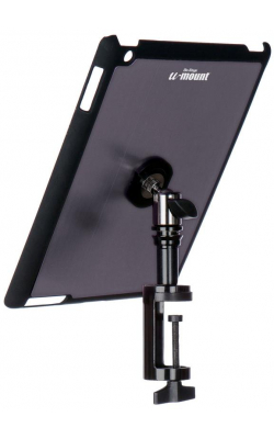 TCM9163GM - iPad® Snap-On™ Cover w/ Table Clamp, Gun Metal