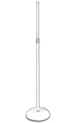 MS7201QTRW - Quarter-Turn Round Base Mic Stand (White)