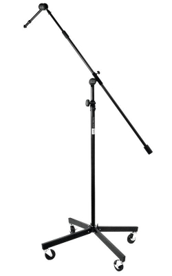 "SB96+ - Tripod Studio Mic Boom with 7"" Mini Boom Extension and Casters"