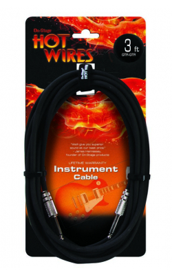 IC-3 - Instrument Cable, Standard (QTR-QTR, 3')