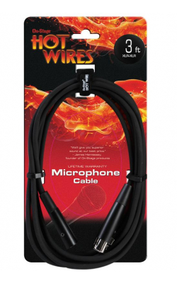 MC12-3 - Microphone Cable (3', XLR-XLR)