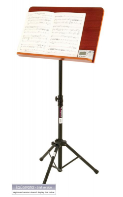 SM7312W - Music Stand w/ Wide Rosewood Bookplate