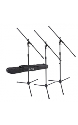 MSP7703 - Three Euro Boom Mic Stands with Bag