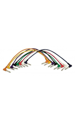 "PC18-17QTR-R - Right-Angle 1/4"" Patch Cables (Right-Angle QTR-Right-Angle QTR, 8-pack)"