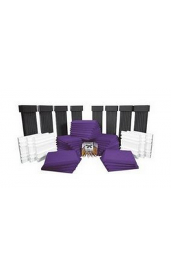 SFS184PUR - SonoFlat System for Rooms up to 400 Sq. Ft. (54 pieces, Charcoal, Purple)