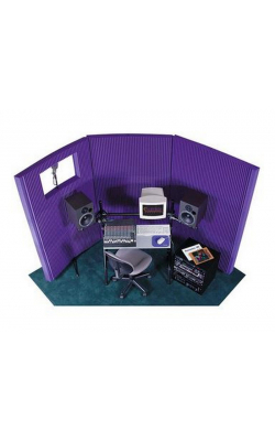 "MAX-WALL 831 PURPLE - MAX-Wall Series Portable Acoustric Treatment w/Window (8 - 20""x48"" panels, Purple)"