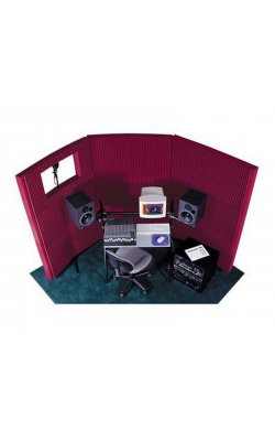 "MAX831BUR - MAX-Wall Series Portable Acoustric Treatment w/Window (8 - 20""x48"" panels, Burgundy)"