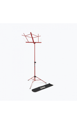 SM7122RB - Compact Sheet Music Stand (Red, w/ Bag)