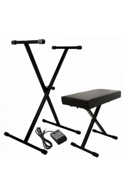 KPK6520 CB - Keyboard Stand and Bench Pack with Keyboard Sustain Pedal