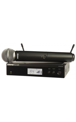 BLX24R/SM58-J10 - BLX Series Rackmount Handheld System with SM58 Mic (J10 Band, 584-608 MHz)