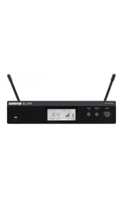 BLX4R=-J10 - BLX Series 1/2 Rack Receiver with 1/4 Wave Antennas (J10 Band, 584-608 MHz)