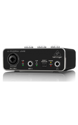 UM2 - 2X2 USB 2 audio/midi interface 48k xenyx mic pre