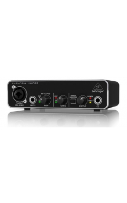 UMC22 - 2X2 USB 2 audio/midi interface 28K midas mic pre