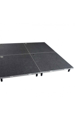 "ISDRUM6X6 - 6"" Drum Riser with Screw-in Legs (6' x 6', carpeted)"