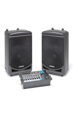 "XP1000 - Portable PA - 2 x 10"", 1000 watts, 10-ch mixe"