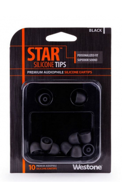 STAR SILICONE TIPS - - WESTONE STAR Silicone Tip Blac