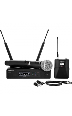 QLXD124/85-G50 - QLX-D Series Handheld and Lav Combo Wireless System (G Band)