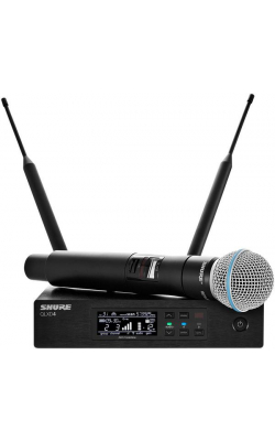 QLXD24/B87A-G50 - QLX-D Series Handheld Wireless System (BETA 97A Mic, Supercardioid, G Band)