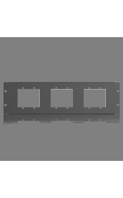 BB-PLT-PNL - 3RU Rack Mount Kit for BlueBridge ® Wall Controlle