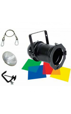 46 BLACK COMBO - Par 46 Pak with Lamp, Gels, Clamp, Safety Cable (Black)