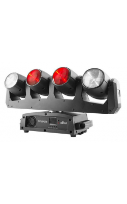 INTIMWAVE360IRC - FIVE RGBW moving heads on a single rotating bar!