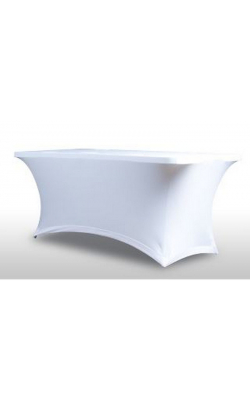 HD TABLE SCRIM WHITE - HEAVY DUTY TABLE SCRIM WHITE W/BAG