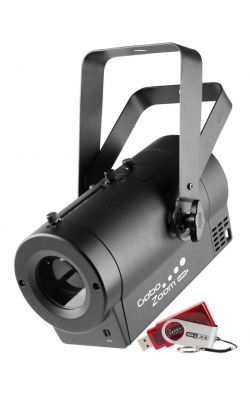 GOBOZOOMUSB - Super compact gobo projector with a manual zoom;