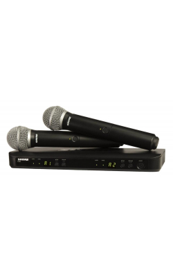 BLX288/PG58-H9 - Dual Vocal System with (1) BLX88 Dual Wireless Rec