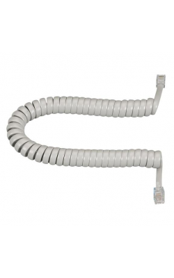 EJ303-0012 - RJ-22 Modular Coiled Handset Cord, Light Gray, 12-