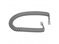 EJ302-0006 - RJ-22 Modular Coiled Handset Cord, Dark Gray, 6-ft