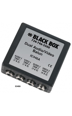 IC446A - Dual Audio/Video Balun