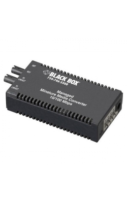 LMM116A - Managed Miniature Media Converter, 10-/100-Mbps Co