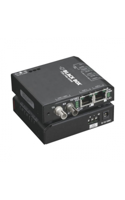 LBH100A-H-ST-48 - Hardened Media Converter Switch, 10-/100-Mbps Copp