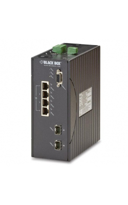 LEH1104A-2GSFP - Hardened Managed Ethernet Switch, (4) 10/100-Mbps