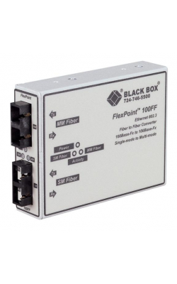 LMC250A-ST - FlexPoint 100-Mbps Multimode to Single-Mode Fiber-