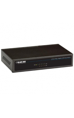 LPB1305A - Unmanaged 802.3at PoE Gigabit Ethernet Switch, 5-