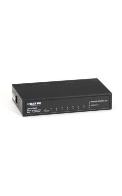LPE108AE - PoE PD Switch, Unmanaged, 10BASE-T/100BASE TX, 8-P