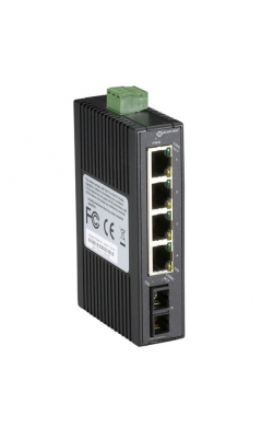 LBH120A-H-20K-SC - Hardened Mini Industrial Switch, (4) 10-/100-Mbps