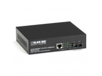 LPS500A-SM-10K-SC - PoE PSE Gigabit Media Converter, Single-Mode SC, 1