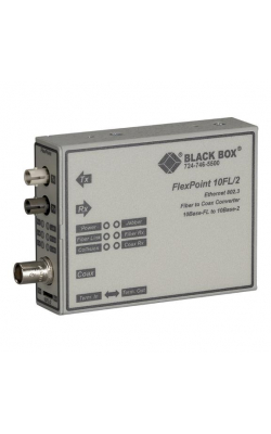 LMC211A-MM - FlexPoint 10BASE-FL to BNC Media Converter, 10-Mbp