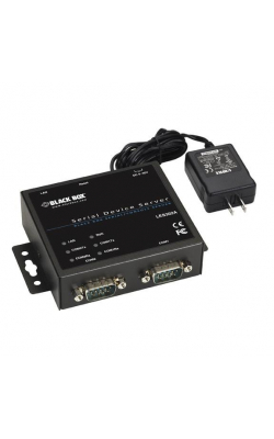 LES302A-KIT - 2-Port 10/100 Device Server, RS-232/422/485, DB9 M