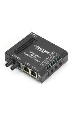 LBH100AE-ST - Standard Media Converter Switch, 10-/100-Mbps Copp