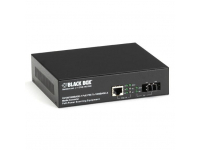 LPS500A-SM-10K-LC - PoE PSE Gigabit Media Converter, Single-Mode LC, 1
