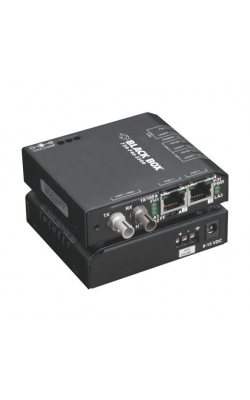 LBH100A-H-ST - Hardened Media Converter Switch, 10/-100-Mbps Copp