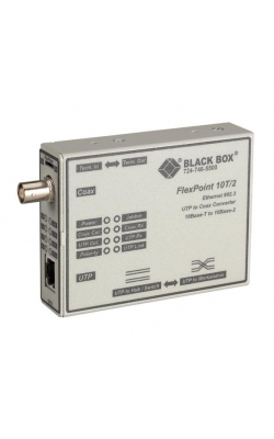 LMC210A - FlexPoint 10BASE-T to BNC Media Converter, 10-Mbps
