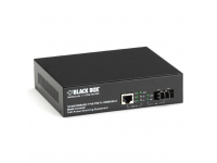 LPS500A-MM-LC - PoE PSE Gigabit Media Converter, Multimode LC, 550