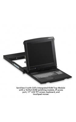 KVT517A-16CATX-1IP - ServView V w/CATx Integrated KVM Tray Module, 16-P