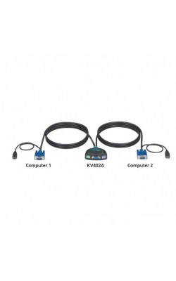KV402A - ServSwitch Micro KVM Switch PS/2 Console for (2) U