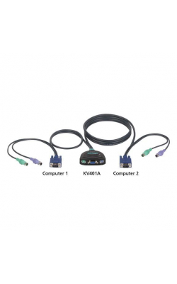 KV401A - ServSwitch Micro KVM Switch, PS/2 Console for (2)